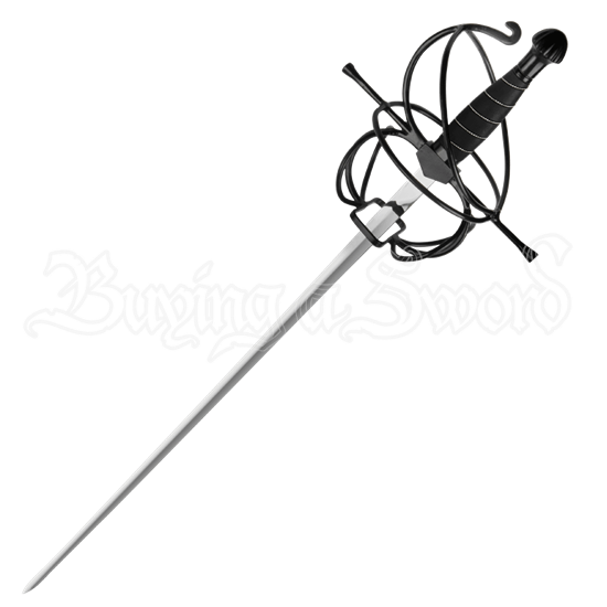 Black Wire Hilt Rapier