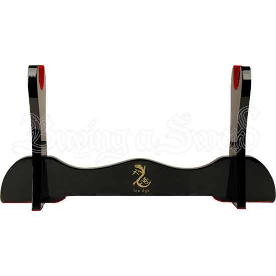 Single Sword Black Lacquered Stand
