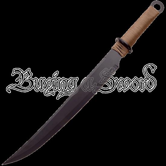Brown Cord Fantasy Short Sword