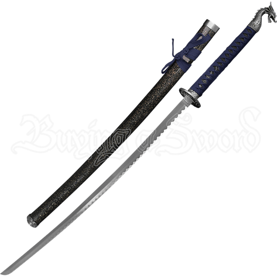 Blue Handled Dragon Katana