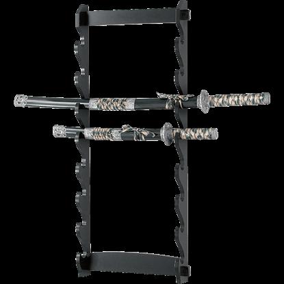 8 Tier Wall Mounted Sword Rack