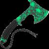 Z-Hunter Green Skull Hand Axe