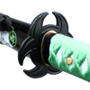 Green Biohazard Katana