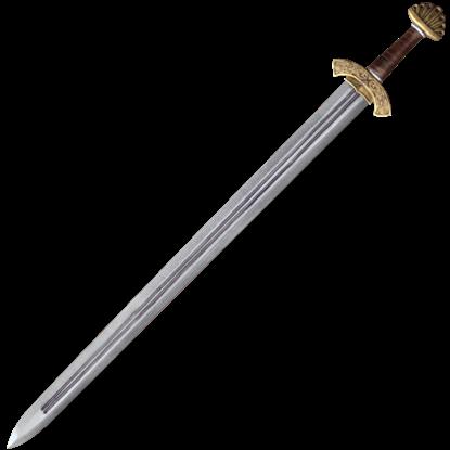 Carved Hilt Viking Long LARP Sword