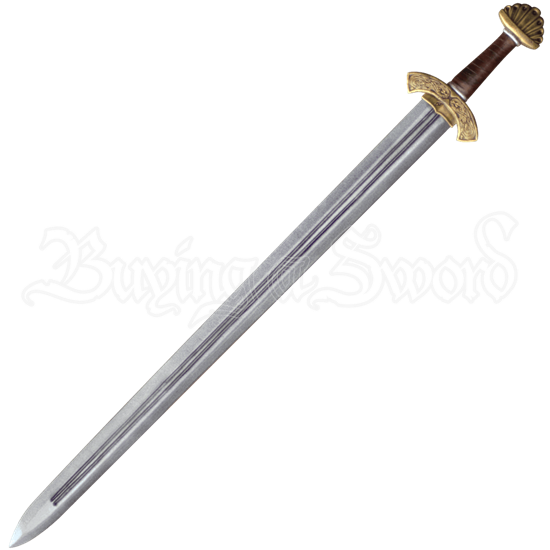 Carved Hilt Viking Long LARP Sword