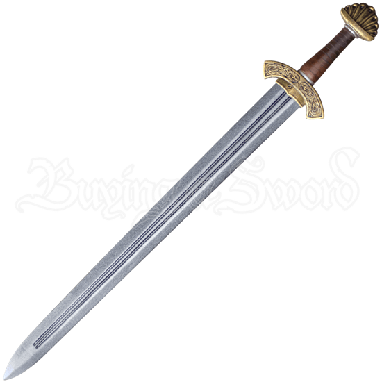 Carved Hilt Viking Short LARP Sword