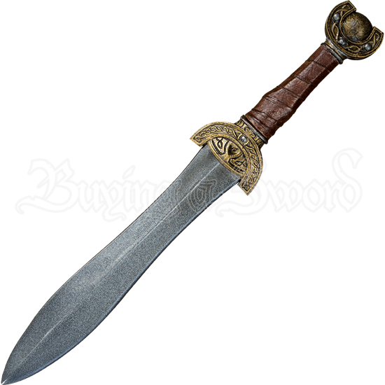 Celtic Leaf Short LARP Sword