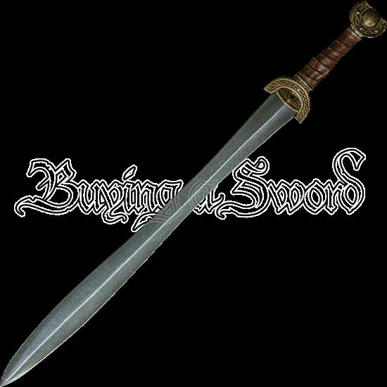 Celtic Leaf Long LARP Sword