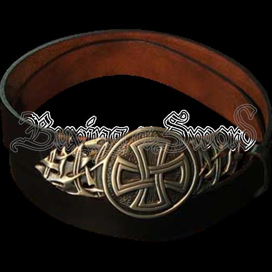 Celtic Cross Buckle Belt
