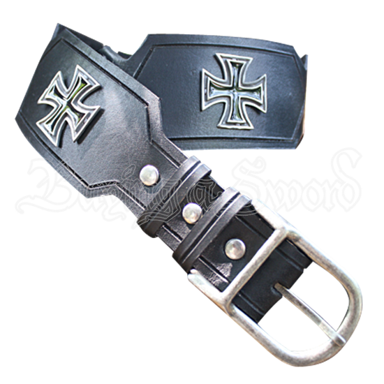 Templar Cross Leather Belt