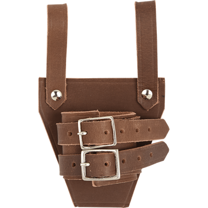 Leather Broadsword Frog - Brown