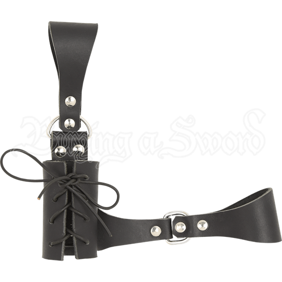 Lace-Up Cuff Black Sword Frog