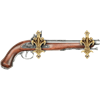 Brass Fleur De Lis Sword Hanger