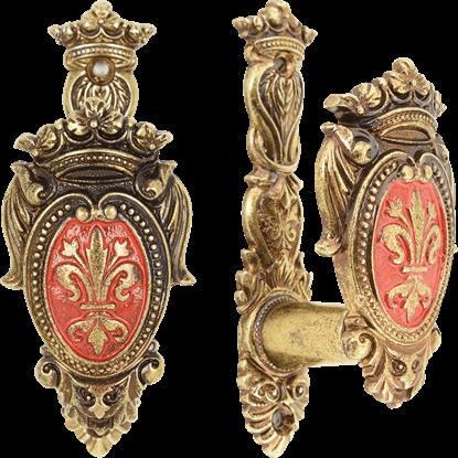 Brass Fleur De Lis Crest Sword Hanger