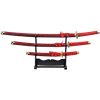 Ruby Marble Japanese Sword Set