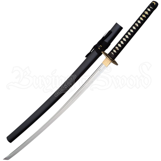 Black and Gold Katana with Stand