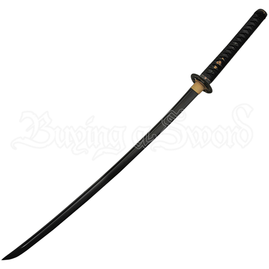 Black Blade Snake Dragon Katana