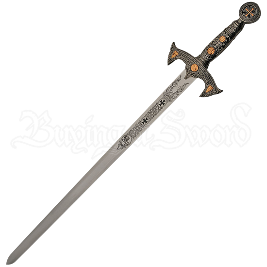 Silver and Rose Gold Knights Templar Sword