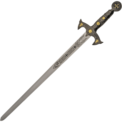 Silver and Gold Knights Templar Sword