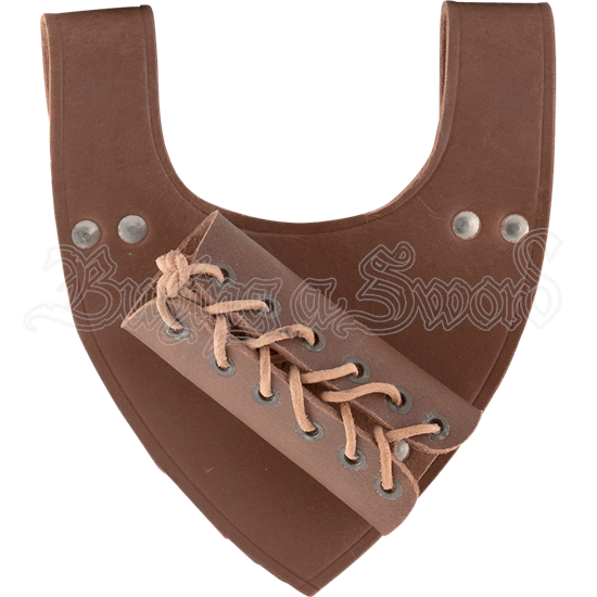 Angled Medieval Sword Frog - Brown