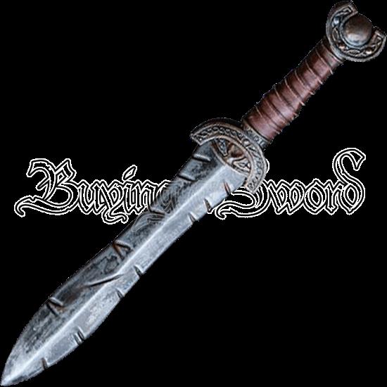 Battleworn Celtic Leaf LARP Short Sword
