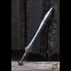 Battleworn Celtic Leaf LARP Sword