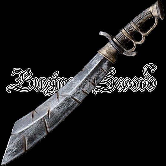 Battleworn LARP Trench Knife - 60 cm