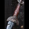Battleworn Celtic Leaf LARP Sword - 100 cm