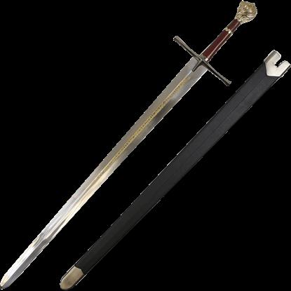 Lion Head Engraved Sword