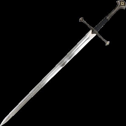 Fan Pommel Engraved Medieval Sword
