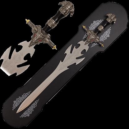 Engraved Demon Skull Sword