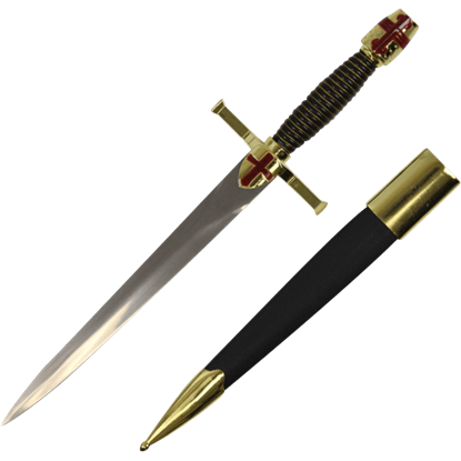 Brass Crusader Dagger