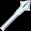 Silver Medieval Mace Dagger