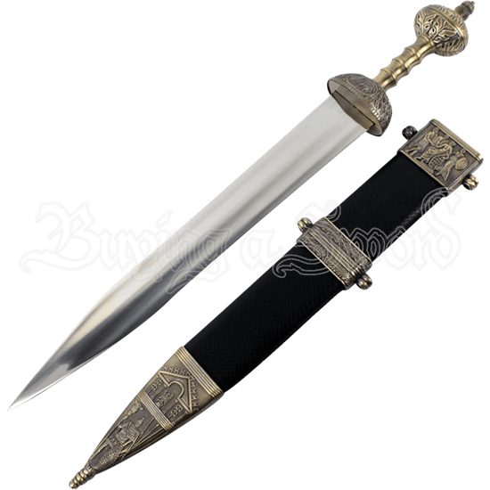 Roman Gladius Sword with Ornate Scabbard