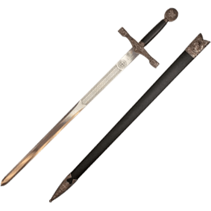 Silver Dragon Excalibur Short Sword
