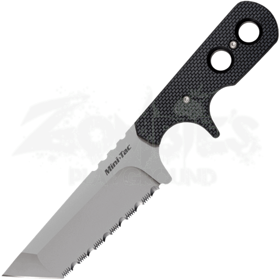 Tanto Mini Tac Knife with Serrations by Cold Steel