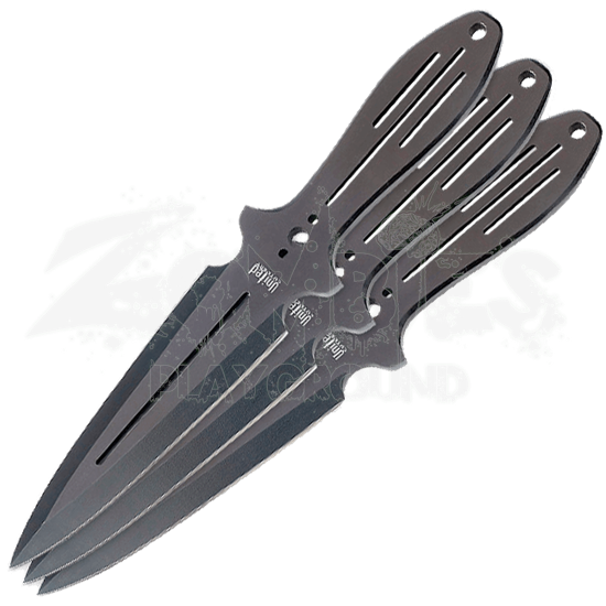 Triple Threat Throwing Knives Black Set