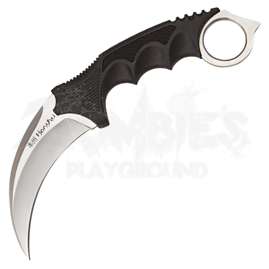 Silver Honshu Karambit with Harness