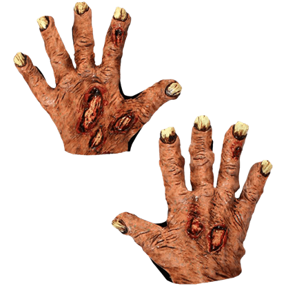 Zombie Flesh Costume Hands