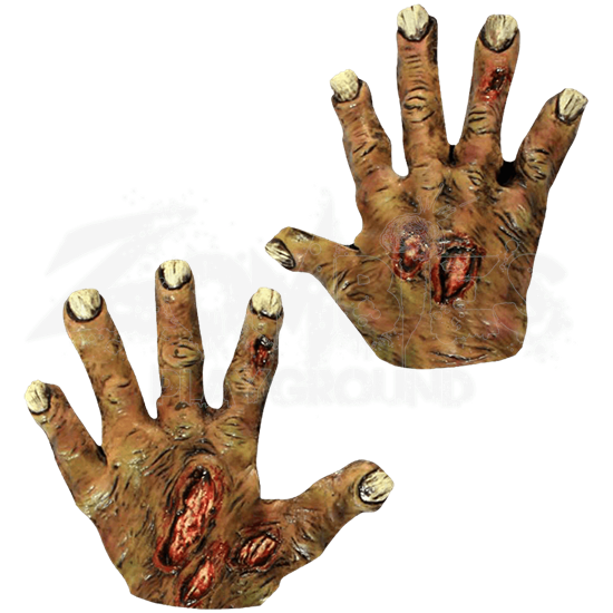 Undead Zombie Costume Hands