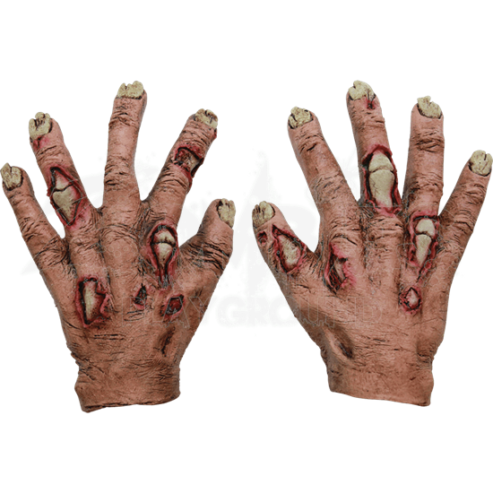 Junior Zombie Flesh Gloves