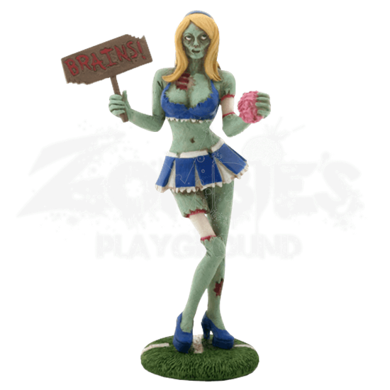 Zombified Cheerleader Statue