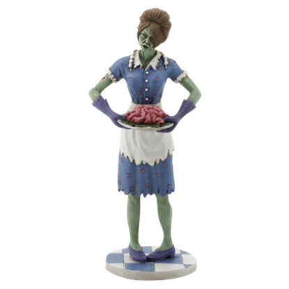 Dinner is Served Zombie Housewife Statue