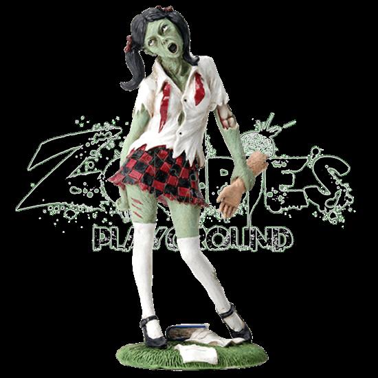Zombie School Girl Statue