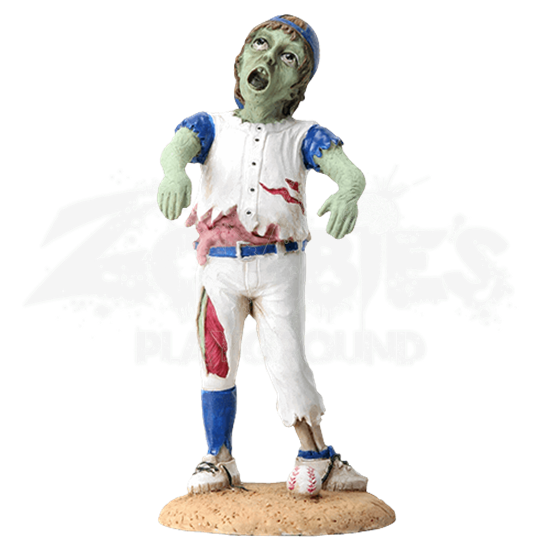 Zombified Baseball Kid Statue