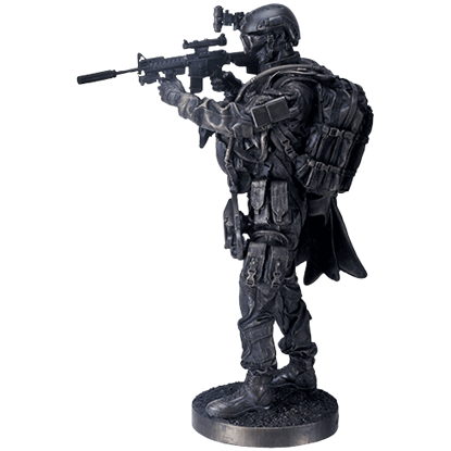 Navy Seal Aiming Statue