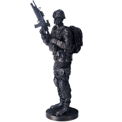 On Guard Soldier Statue