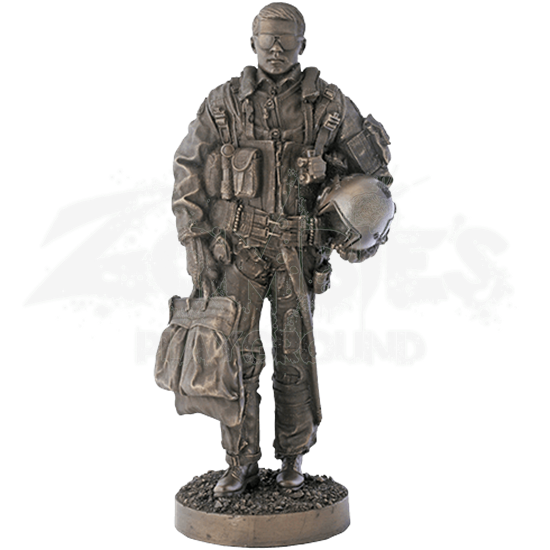 Jet Fighter Pilot Statue