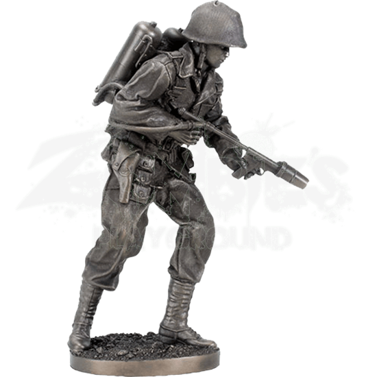 WWII Flame Thrower Soldier Statue