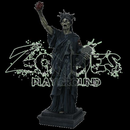 Zombie Lady Liberty Statue
